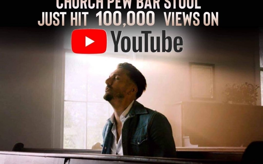 """CHURCH PEW BAR STOOL"" HITS 100K ON YOU-TUBE!"