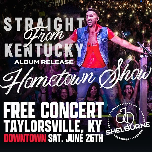 JD Shelburne To Headline Hometown Concert And Album Release Party In Taylorsville, Kentucky This Saturday!